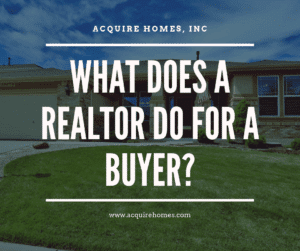 What does a realtor do for a buyer